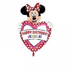 Minnie Mouse Personalised Shape Foil Balloon - 60x83 cm, Amscan A26363