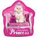 Kitten Princess Birthday Shape Foil Balloon - 50x55 cm, Amscan 26793