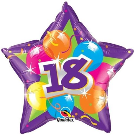 Balon Folie 45 cm 18 Sparkling Star, Qualatex, 50 cm, 61857