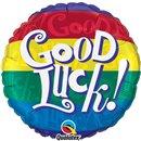 Balon Folie 45 cm Good Luck! Multicolor, Qualatex 38031