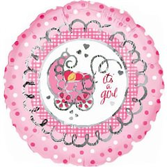 "Balon folie 45cm ""It's a girl"", Amscan 10301"