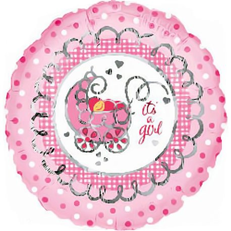 "Balon Folie 45 cm ""It's a girl"", Amscan 10301"