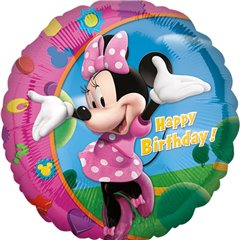 Balon folie 45cm Minnie Mouse Happy Birthday, Amscan 17797