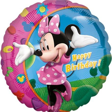 Balon Folie 45 cm Minnie Mouse Happy Birthday, Amscan 17797