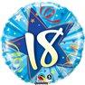 """18th Birthday Blue Foil Balloon, Qualatex, 18"""", 25242"""