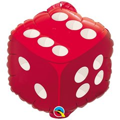 "Double-Sided Dice Balloon 18"", Qualatex, 98446"