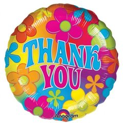 "Thank You Foil Balloon - 18""/45cm, Amscan 07068"