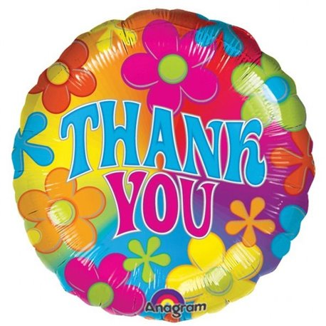 "Balon Folie 45 cm ""Thank You"", Amscan 07068"