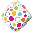 "Diamond Foil Balloon - Polka Dot Patterns, Qualatex, 18"", 34410"