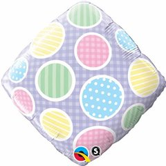 "Diamond Foil Gingham Accent Patterns, 18"", Qualatex, 34426"