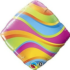 "Wavy Stripes Accent Patterns Foil Balloon, 18"", Qualatex, 34414"