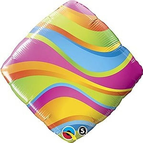 "Wavy Stripes Accent Patterns Foil Balloon, 18"", Qualatex, 34414"