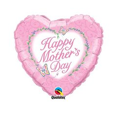 Balon Folie 45 cm Qualatex, Happy Mother Day, 80991