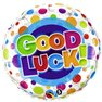 """Good Luck Colorful Dots, Round Foil Balloon, Qualatex, 18"""", 36387"""
