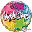 Balon Folie 45 cm Qualatex, Congratulations, 35412