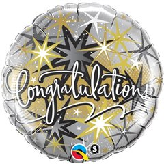 Balon Folie 45 cm, Qualatex, Congratulations Stele, 36397