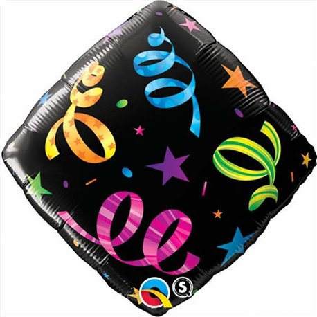 """Streamers Accent Patterns Foil Balloon - 18""""/45cm, Qualatex 34422"""