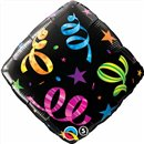 "Streamers Accent Patterns Foil Balloon - 18""/45cm, Qualatex 34422"