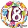 """18 Big Dots & Glitz Foil Balloon - 18""""/45cm, Qualatex 37888"""