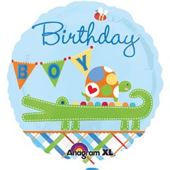 "Alligator Birthday Boy Foil Balloon - 18""/45cm, Amscan 2448901"