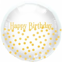 Balon folie 45cm Happy Birthday Dots, Northstar Balloons 00919