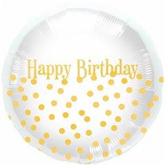 "Happy Birthday Dots Foil Balloon - 18""/45cm, Northstar Balloons 00919"
