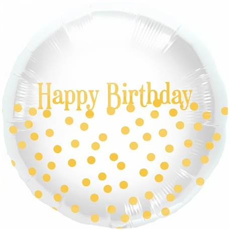 Balon Folie 45 cm Happy Birthday Dots, Northstar Balloons 00919