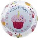 Balon Folie 45 cm Cupcake Hearts Birthday, Northstar Balloons 00351