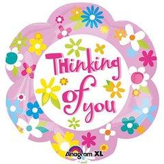 "Balon Folie 45 cm ""Thinking of You"", Amscan 26809"