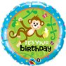 "Balon Folie 45 cm ''It's your birthday"", Qualatex 49927"