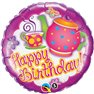 "Balon Folie 45 cm Teatime ""Happy Birthday"", Qualatex 41248"