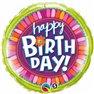 "Balon Folie 45 cm ""Happy Birthday"" - Floare, Qualatex 35106"