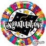 "Balon Folie 45 cm Absolvire ""Congratulations"", Qualatex 93437"