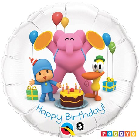 Balon Folie 45 cm Pocoyo Birthday & Friends, Qualatex 41140