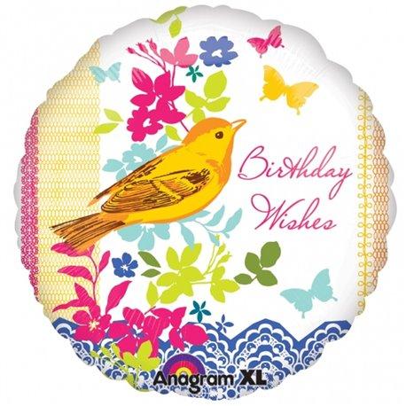 "Birthday Bird Foil Balloon - 18""/45cm, Amscan 1991901"