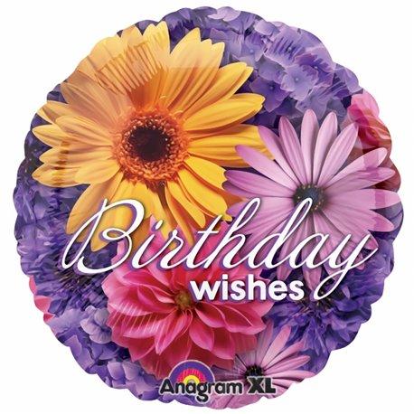 "Photo Floral Birthday Foil Balloon - 18""/45cm, Amscan 1993401"