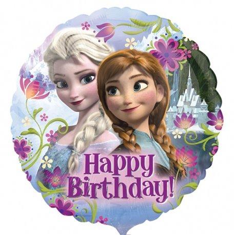 Balon Folie 45 cm Frozen Happy Birthday, Amscan 2900901