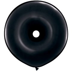 "Baloane figurine latex GEO Donut 16"", Onyx Black, Qualatex 37701"