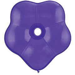 "Balon latex floare, GEO Blossom 6"", Quartz Purple, Qualatex 43629"