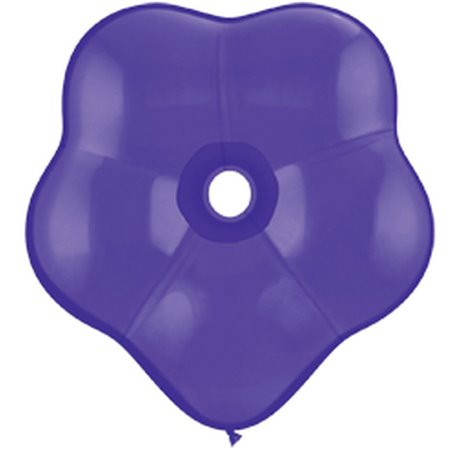 "Balon latex floare, GEO Blossom 6"", Quartz Purple, Qualatex 43629, Set 100 buc"