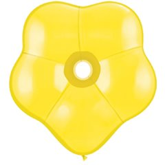 "6"" Citrine Yellow GEO Blossom Latex Balloons, Qualatex 43610, Pack of 100 pieces"