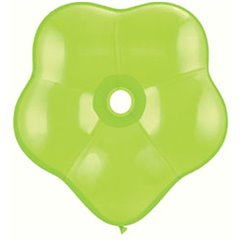 "6"" Lime Green GEO Blossom Latex Balloons, Qualatex 87165, Pack of 100 pieces"