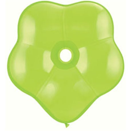 """6"""" Lime Green GEO Blossom Latex Balloons, Qualatex 87165, Pack of 100 pieces"""