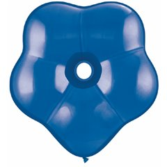"6"" Sapphire Blue GEO Blossom Latex Balloons, Qualatex 43631, Pack of 100 pieces"