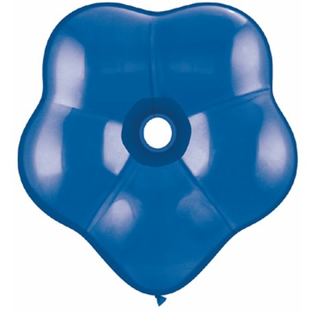 """6"""" Sapphire Blue GEO Blossom Latex Balloons, Qualatex 43631, Pack of 100 pieces"""