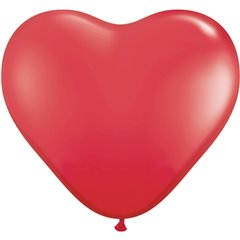 3' Red Heart Jumbo Balloons, Qualatex 44353, Pack of 2 pieces