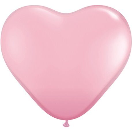 3' Pink Heart Jumbo Balloons, Qualatex 44445, Pack of 2 pieces