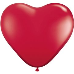 3' Ruby Red Heart Jumbo Balloons, Qualatex 44487