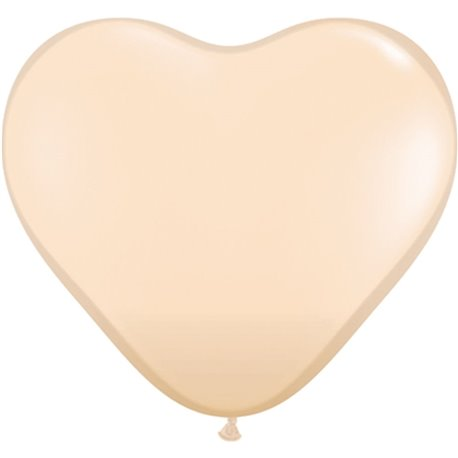 """6"""" Blush Latex Heart Balloons, Qualatex 92526, Pack of 100 pieces"""