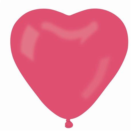 Baloane latex in forma de inima, Diametru 25 cm, Rosu 05, Gemar CR.05, set 100 buc